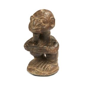 """Sapi, Sierra Leone """"Nomoli"""" Soapstone Figure"""