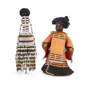 "Pedi, Sotho South Africa ""Ntwana"" Beaded Doll & Xhosa Doll"