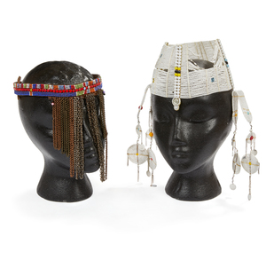 Two Maasai, Kenya Female Face Covers