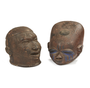 "Makonde, Mozambique Mask ""lipiko"" and Yoruba Nigeria Gelede Mask"