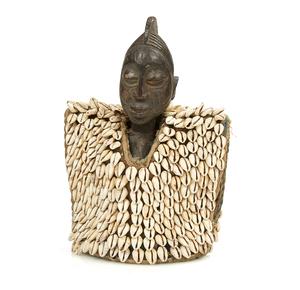Yoruba, Nigeria Ibeji Figure with Cowrie Cloak