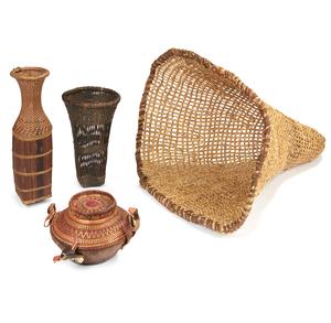 Kuba or Chokwe Basket Cassava Sifter, Mbala (DRC) Basket Flour Sifter, Luo, Lake Victoria Kenya, Fish Trap, Ethiopia Food Container