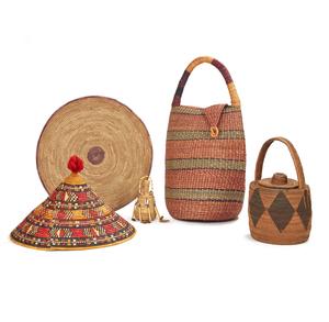 Ghana Basket/Bag, Mende Basket, Samburu, Kenya Basket, Nubi Ethiopia Food Platter with Cover