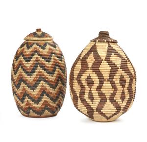 """Two Zulu, South Africa """"Ukhama"""" Baskets"""