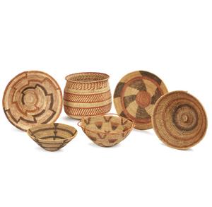 """Four Lozi / Mbundu, Zambia """"Makenge"""" Baskets, Hehe, Tanzania Basket, Zambia"""
