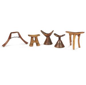 Five Assorted Headrests