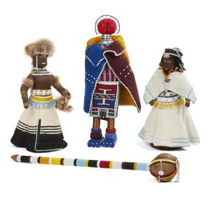 Three African Dolls, and Maasai, Kenya