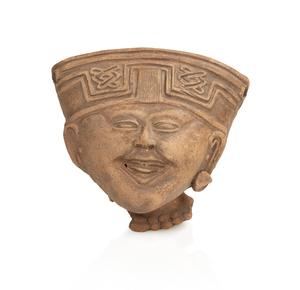 Veracruz, Remojadas, West Mexico, Head Fragment, circa 350 BCE – 750 CE