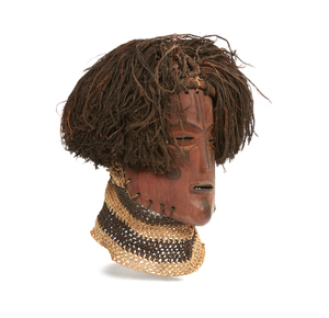 Chokwe, Angola, Wood Mask with Fiber Wig