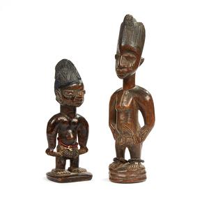 Yoruba Twin Wood Figures