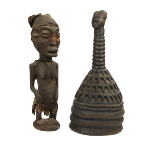 Mende Helmet, West African Standing Figure