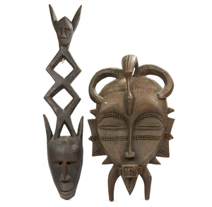 Bambara Mask and Senufo Mask