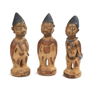 Yoruba, Nigeria, Wood Ibeji Triplets