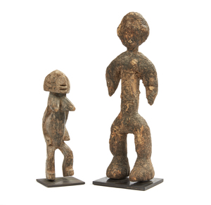 African Female and Male Wood Figures