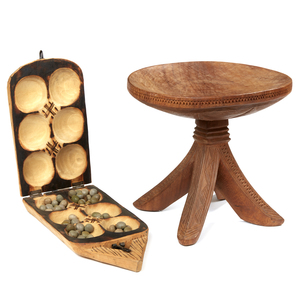 West African Mancala Game, West African Stool