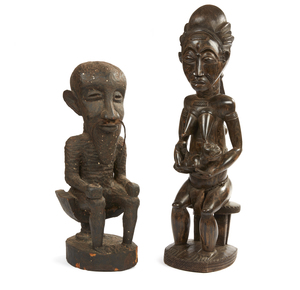 Two African Wood Figures