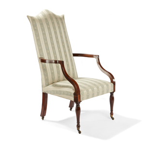 Federal Mahogany Lolling Chair, North Shore, Massachusetts, CA 1810