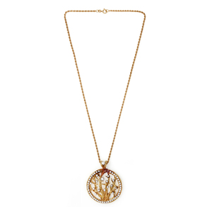 Diamond 14k Pendant and Chain