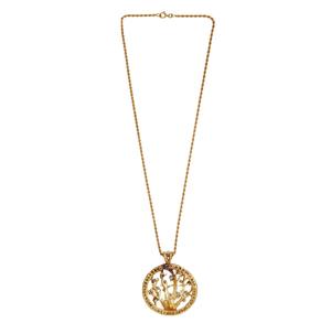 Diamond 14k Pendant and Chain