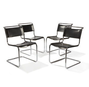Four Mart Stam Cantilever Side Chairs 5-33 by Thonet