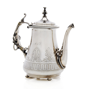 Gorham Coin Silver Coffee Pot, Retailed by Tucker, 28.23 ozt