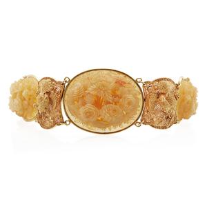 Chinese Shell 18k Bracelet