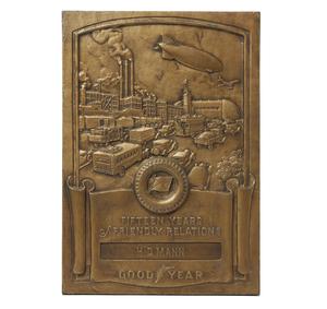 Cast Iron Good Year Award Plaque