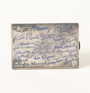 Silver Cigarette Case with Lindbergh