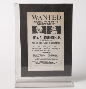 Lindbergh Kidnapping Wanted Poster