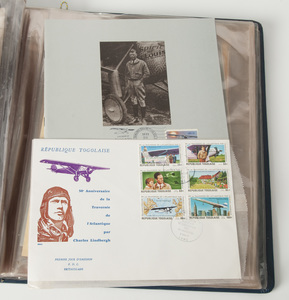 Large Album of Lindbergh Photos, Postal Covers and Pamphlets