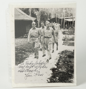 Important Joe Foss Autograph Photo with Lindbergh and Two Signed Joe Foss Letters