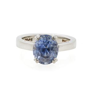 Natural Sapphire Platinum Ring, Larry Stark