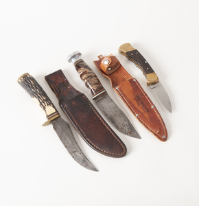 Two E. W. Viking, N.Y. Sheath Knives and a Buck Knife
