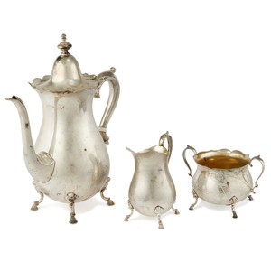 Wallace Sterling Silver Coffee Set, 33.62 ozt
