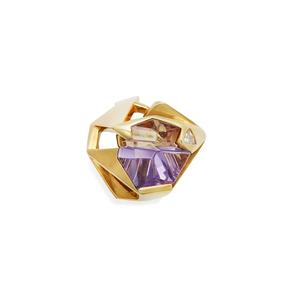 14k Ametrine Diamond Ring