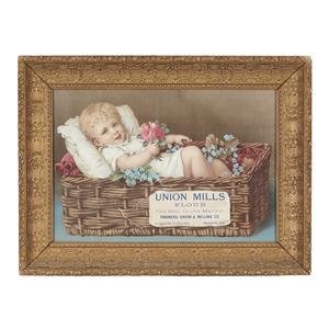 Union Mills Flour Dye-cut Advertisement