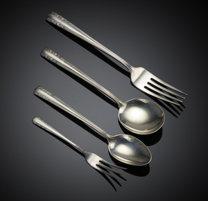 Alvin Sterling Flatware, Chapel Bells Pattern, 31 ozt