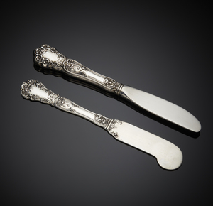 Gorham Sterling Butter Spreaders, Buttercup Pattern,