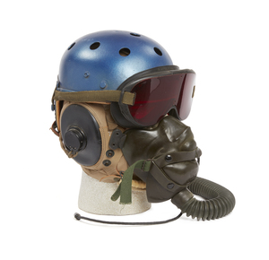 U.S. Summer Weight Cloth Flight Helmet with Hard Hat Top