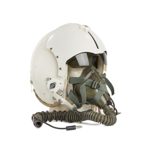 U.S. Navy Flight Helmet with Rams Horn Visor Cover