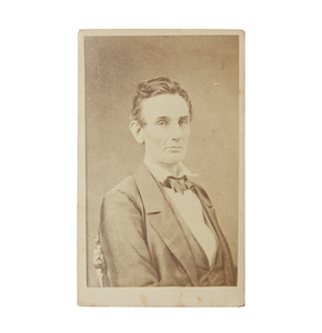 Rare Second Generation Fassett CDV of Abraham Lincoln