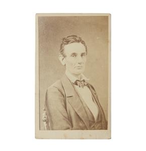 Rare Second Generation Fassett CDV of Abraham Lincoln