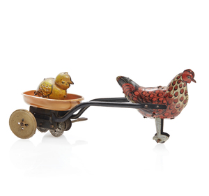 Chicken and Cart Wind-up Toy