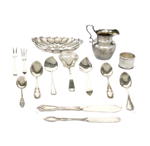 Assorted Sterling Silver Holloware and Flatware, 14.31 ozt