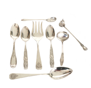 Tiffany and Other Sterling Flatware, 14.49 ozt
