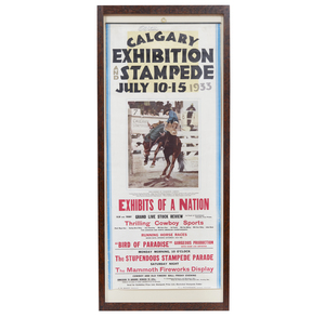 1933 Calgary Stampede Poster