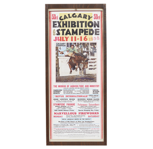 1938 Calgary Stampede Poster