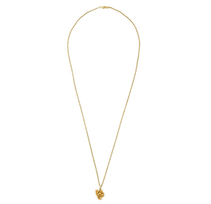 Gold Nugget Pendant and Chain
