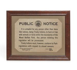 1923 Northwest Public Hunting Notice