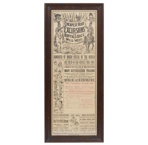 19th Century Buffalo Bill Broadside Advertisement
